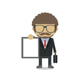 Man with sign vector image vector image