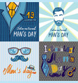 mens day concept background hand drawn style vector image
