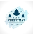 Merry Christmas Typography Greeting Card Design vector image vector image