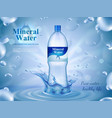 mineral water advertising composition vector image vector image