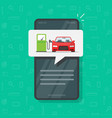 mobile phone app with petrol refueling car
