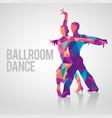 multicolored polygonal silhouette ballroom dance vector image vector image