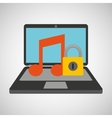 music security system technology vector image vector image