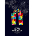 New year 2015 gift greeting card vector image vector image
