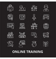 online training editable line icons set on vector image vector image