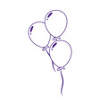 party balloons decoration celebration icon design vector image vector image