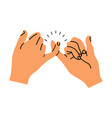 pinky promise hands gesturing vector image vector image
