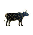 polygonal cow icon isolated on white background vector image vector image