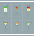 poster cocktails mojito grayish blue vector image vector image