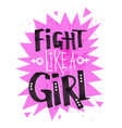 poster with flight like a girl feminist slogan vector image vector image