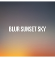 Realistic blurred Sunset or Sunrise Sky vector image