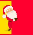 santa claus with signboard happy santa vector image vector image