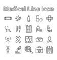 set medical line icon editable stroke vector image vector image