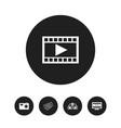 set of 5 editable cinema icons includes symbols vector image vector image