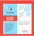 shield company brochure title page design company vector image