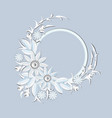 spring frame with white flowers decoration wedding vector image vector image