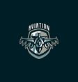 the emblem of a military aircraft aircraft logo vector image vector image