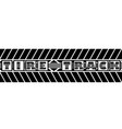 tire track silhouette text vector image