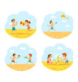 tropical vacations in summer children on beach vector image vector image