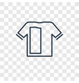 tshirt concept linear icon isolated on vector image