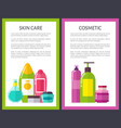 two cosmetic skin care banners vector image vector image