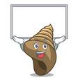 up board spiral shell character cartoon vector image
