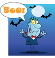 Vampire cartoon vector image vector image