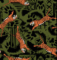 Wild tiger repeat seamless pattern vector image vector image