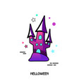 witch castle icon halloween sticker vector image vector image