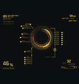 Yellow infographics as head-up display vector image