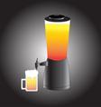 beer mug and Draft beer tower tap vector image