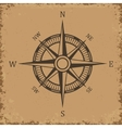 Compass Wind rose on grunge background Old vector image