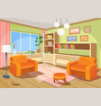 a cartoon interior of an vector image