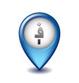 afghan afghani symbol on mapping marker vector image vector image