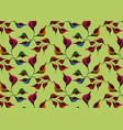african wax print fabric ethnic colorful flowers vector image vector image