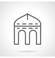 Arched arbor simple line icon