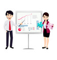 asian business man and business woman vector image vector image