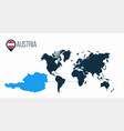austria location modern map for infographics all vector image