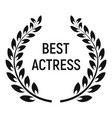 best actress award icon simple style