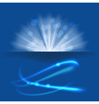 blue light vector image vector image