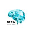 blue symbol brain vector image