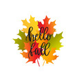 bouquet of autumn maple leaves vector image vector image