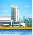 building of modern hospital clinic exterior vector image vector image