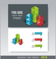business card design bright cubes composition vector image