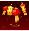 Chinese Paper Street or House Lantern Background vector image