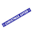 christmas offer grunge rectangle stamp seal with vector image vector image