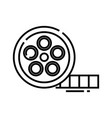 cinema shot line icon concept sign outline vector image