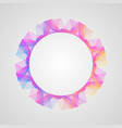 circle frame colorful wave-shaped bright gradient vector image vector image