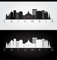 columbia usa skyline and landmarks silhouette vector image vector image