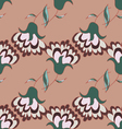 Cute hand drawn pattern with flowers vector image vector image